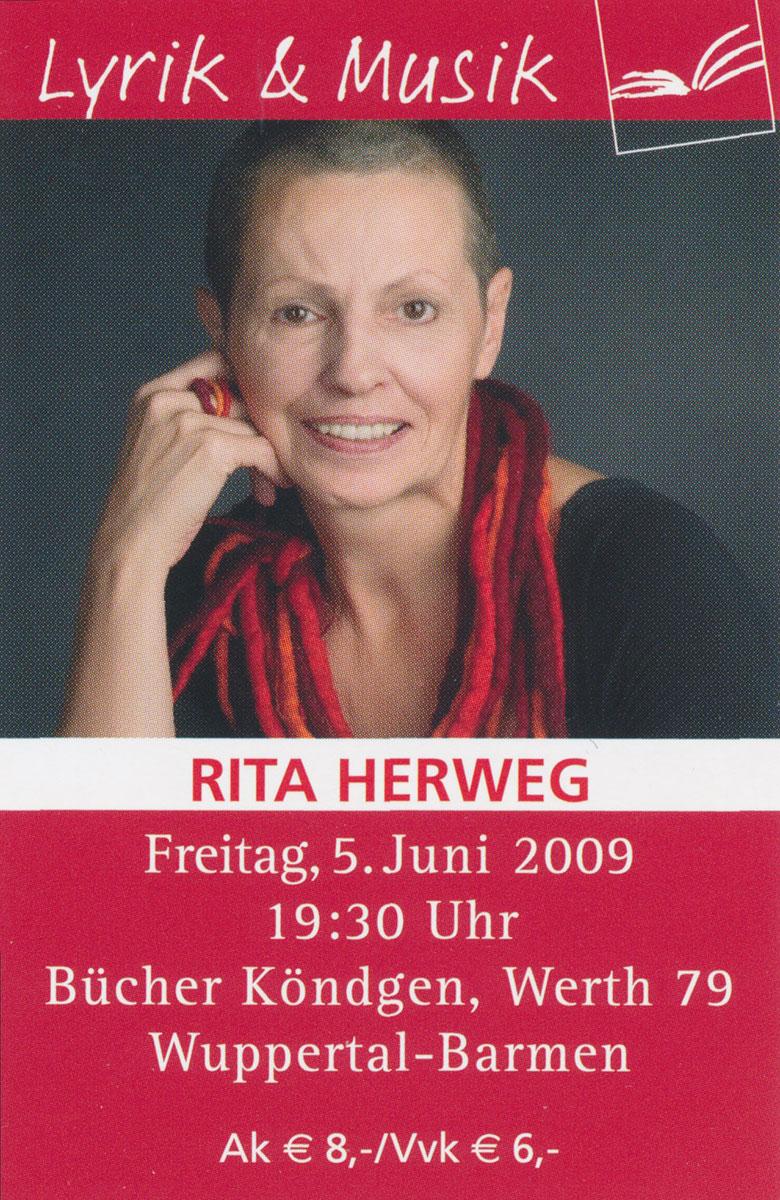 Lyrik & Musik - Rita Herweg bei Bücher Köndgen